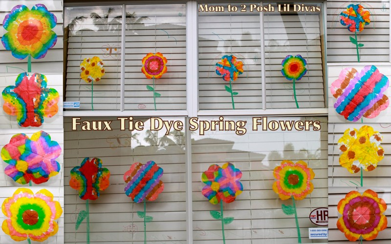 Mom to 2 posh lil divas kid craft faux tie dye spring flower kid craft faux tie dye spring flower window display mightylinksfo Choice Image