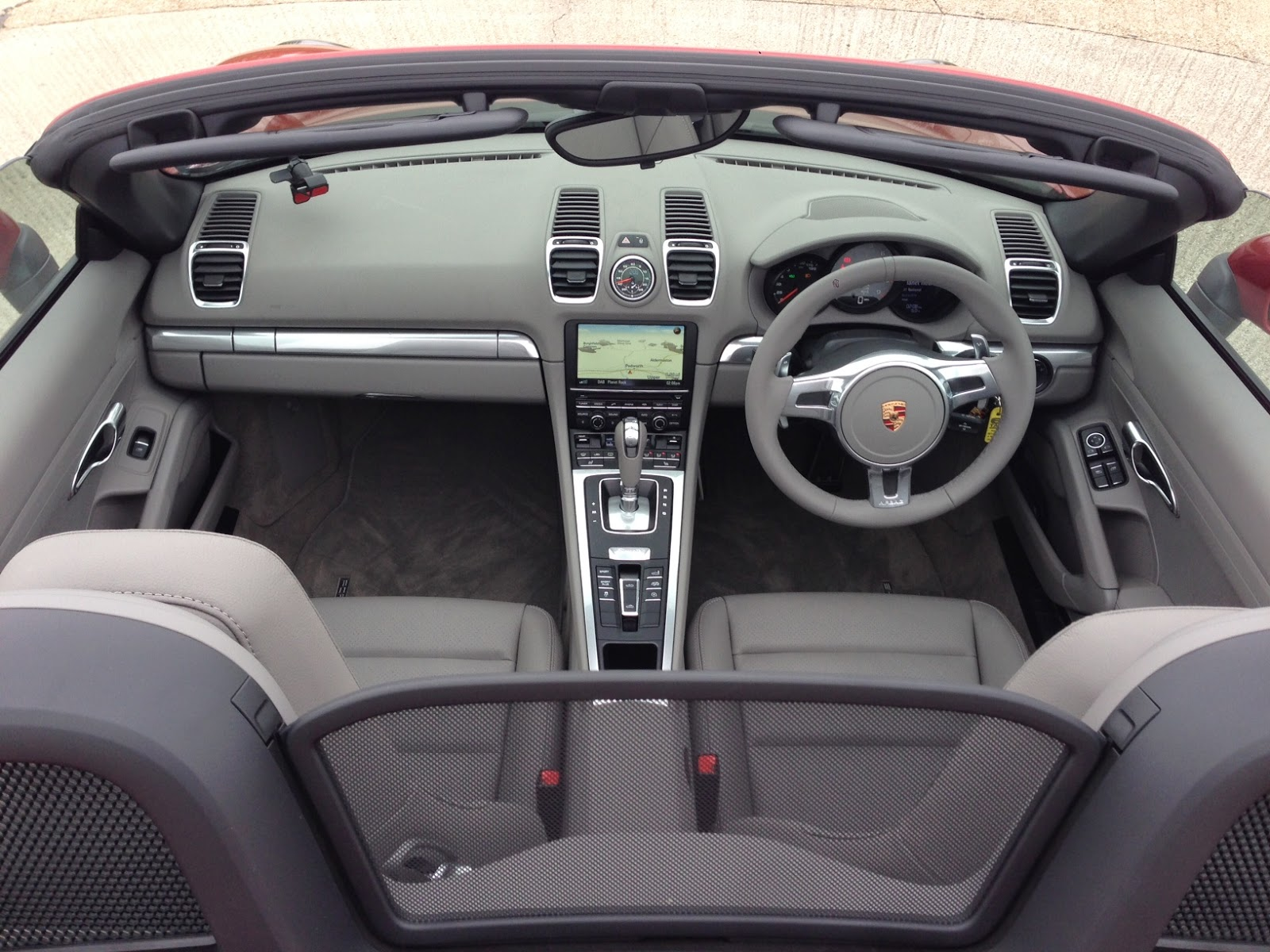 2014 Porsche Boxster S Platinum Grey interior
