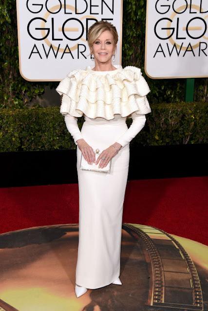 Jane Fonda Saint Laurent Golden Globes 2016