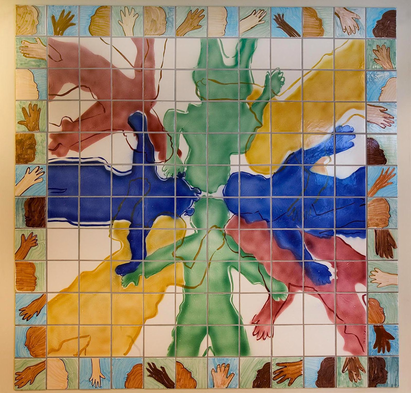 A ceramic tile mural celebrating autistic children and their ceramic tile mural celebrates autistic children and their families doublecrazyfo Images