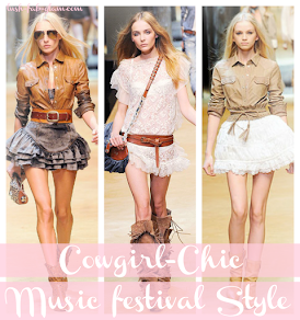 Dance the nights away at your next music festival in Cowgirl-Chic Style! See how to rock this look.