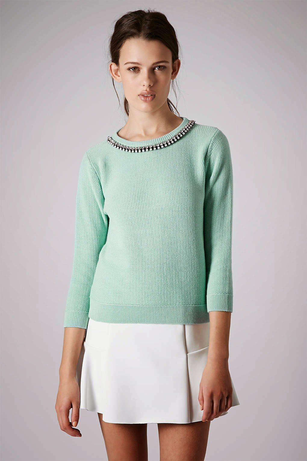 topshop mint jumper