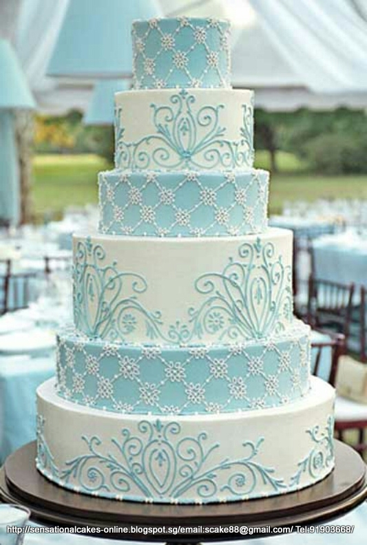 Tiffany Blue Cake Design : Wedding, Corporate Cake, Macaron Tower, Croquembouche ...