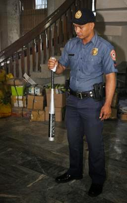 The baseball bat used by Ungab in the attack