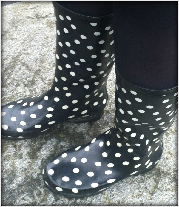 Street Feet: Polka Dot Rainboots