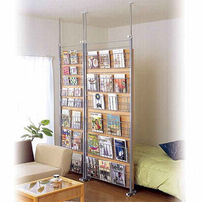 modern shelving space storage
