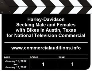 Harley Davidson TV Commercial Casting Call