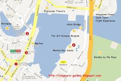 แผนที่โรงแรมในสิงคโปร์