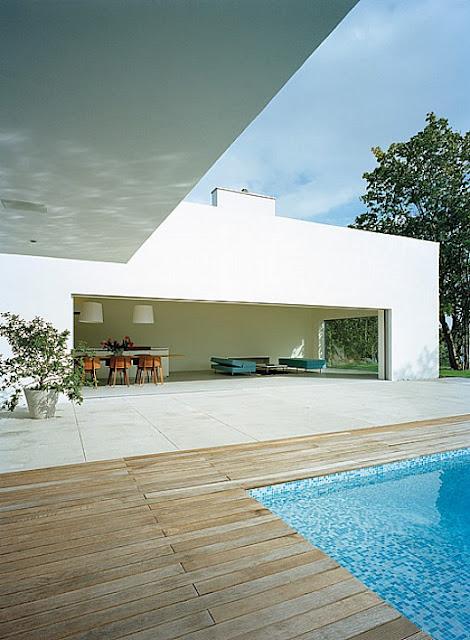 Fachada minimalista de casa
