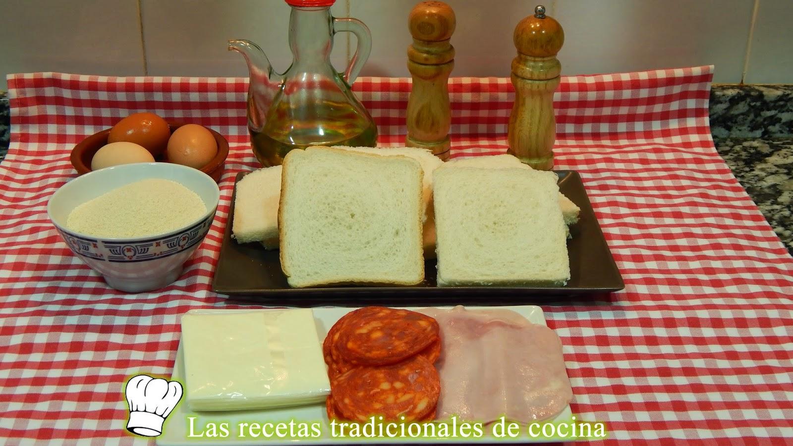 Receta de Flamenquines con pan de molde