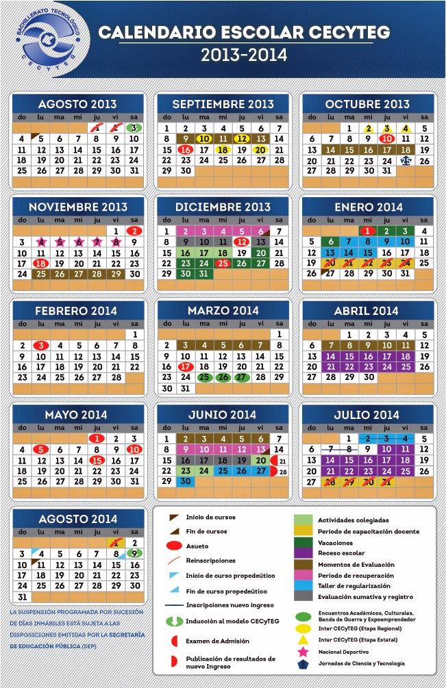 calendarios escolar cecyteg 862 x 658 jpeg 191kb calendario lunar para
