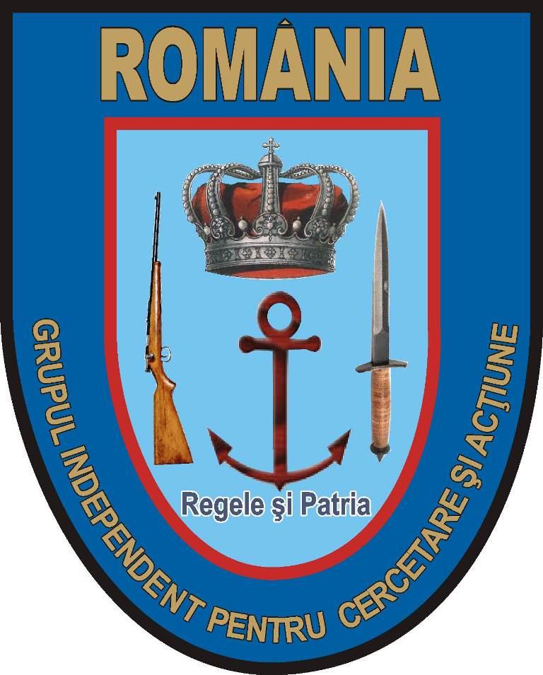 Emblema şi ecusonul Grupului Independent de Cercetare şi Acţiune