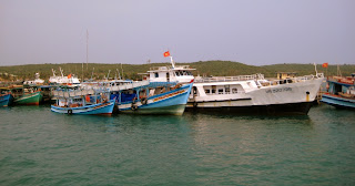 Fishing boats in Phu Quoc Island in Vietnam