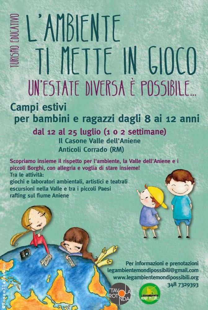 Legambiente Mondi Possibili: Campi estivi per bambini e ragazzi