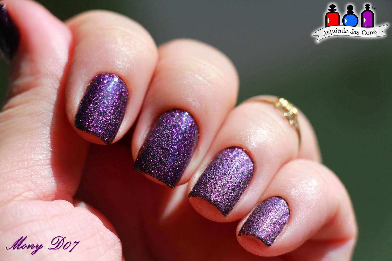 Milani, 524 Purple Gleam, roxo, glitter, Liquid Sand, Simone D07, Simoned07, Mony D07, MonyD07, Magenta