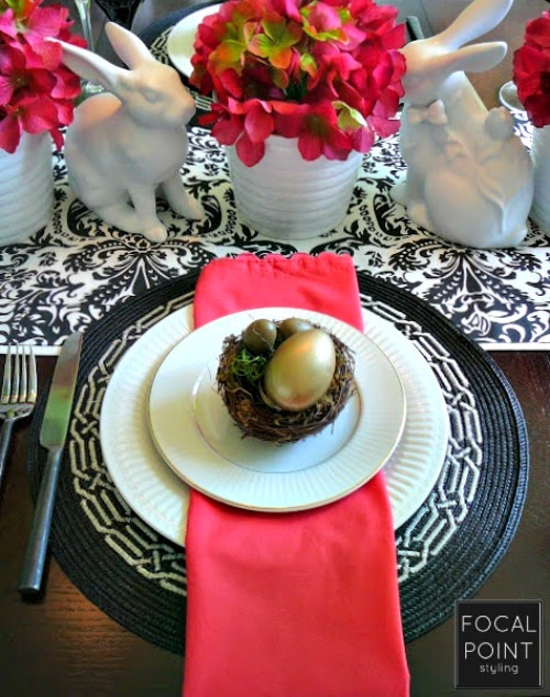FOCAL POINT STYLING: EASTER TABLESCAPE: HIP HOP PINK POP