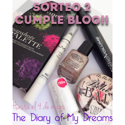 "Sorteo en el blog ""The Diary of my Dreams"""