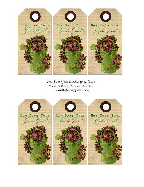 Sweetly Scrapped How Does Your Garden Grow Vintage Tags