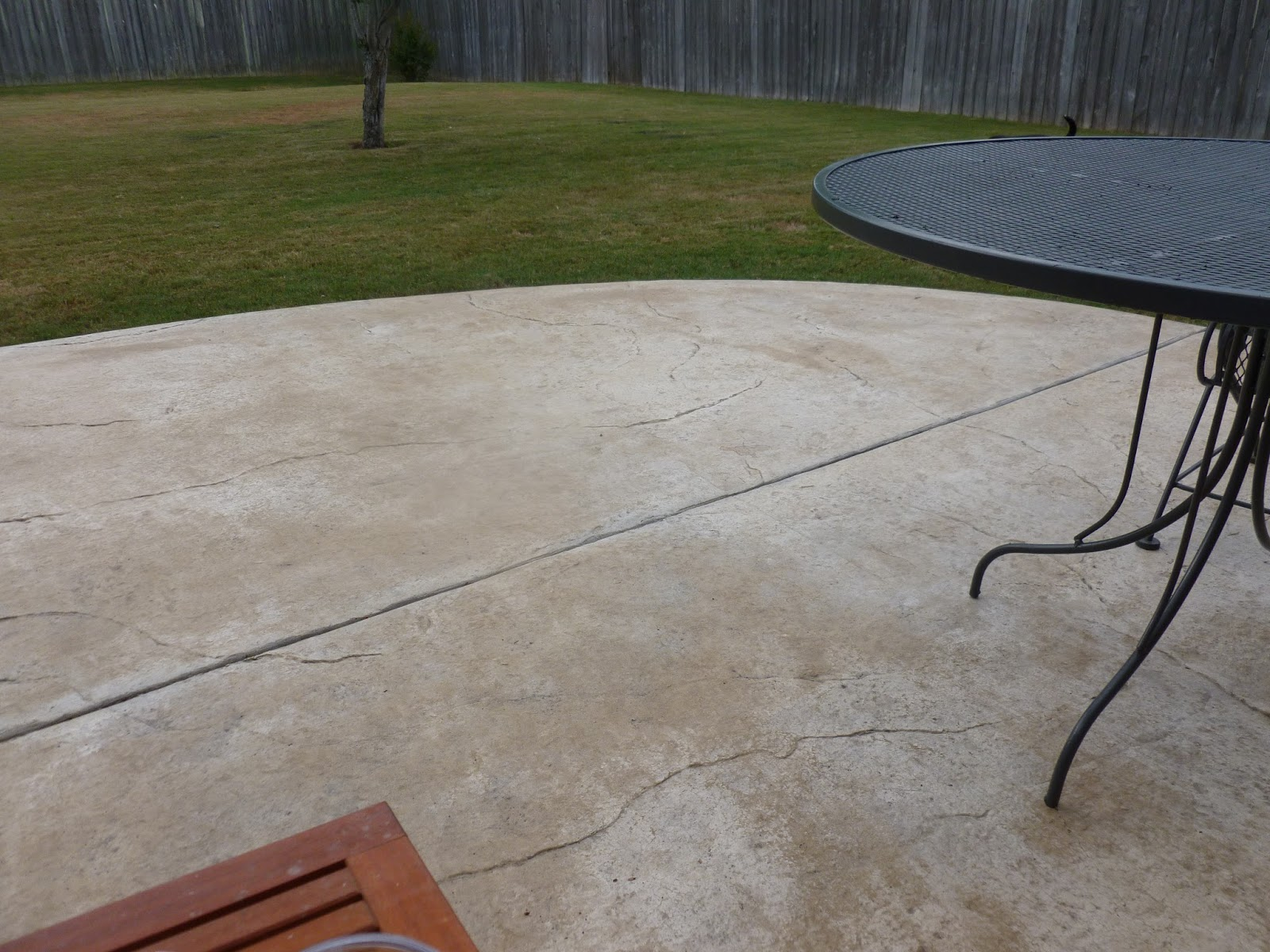 I Wasnu0027t Convinced I Was Going To Totally Like This Fancy Curved And Fake  Stone Concrete Patio. But I Do. We Both Do.