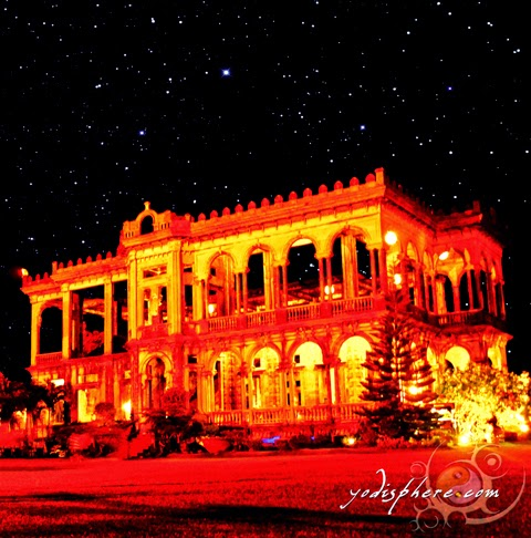 hover_share Scattered stars on a dark sky with The Ruins in Talisay City Negros Occidental