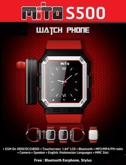 Spesifikasi dan Harga Ponsel Jam Tangan Mito S500