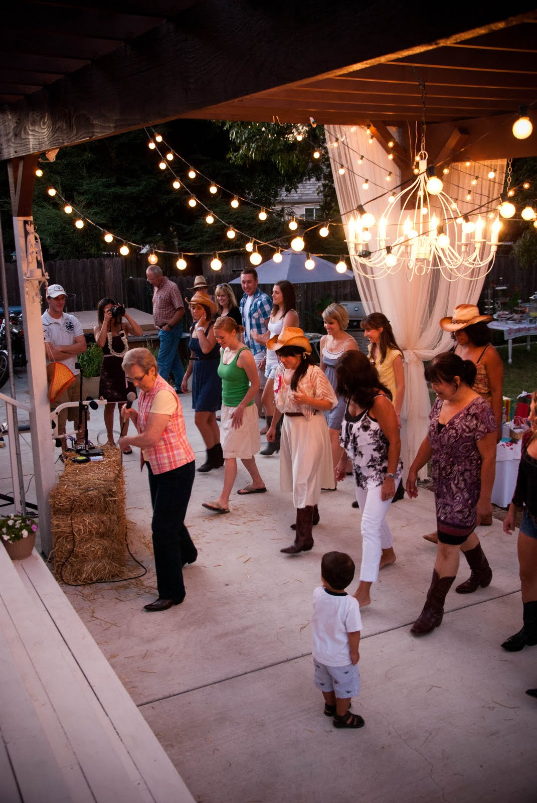 Backyard Party Line Dance : friend referred me to a line dancing instructorshe showed up for