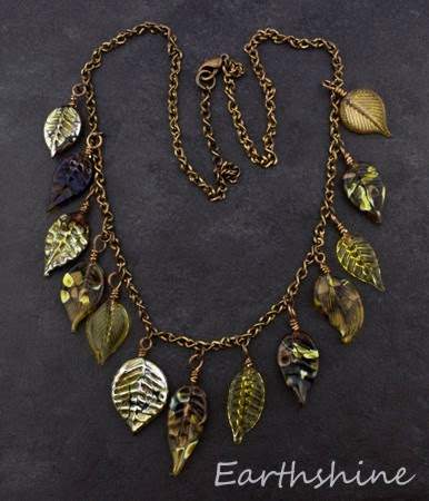http://earthshine.indiemade.com/product/antique-red-copper-necklace-made-lampwork-glass-leaves?tid=1