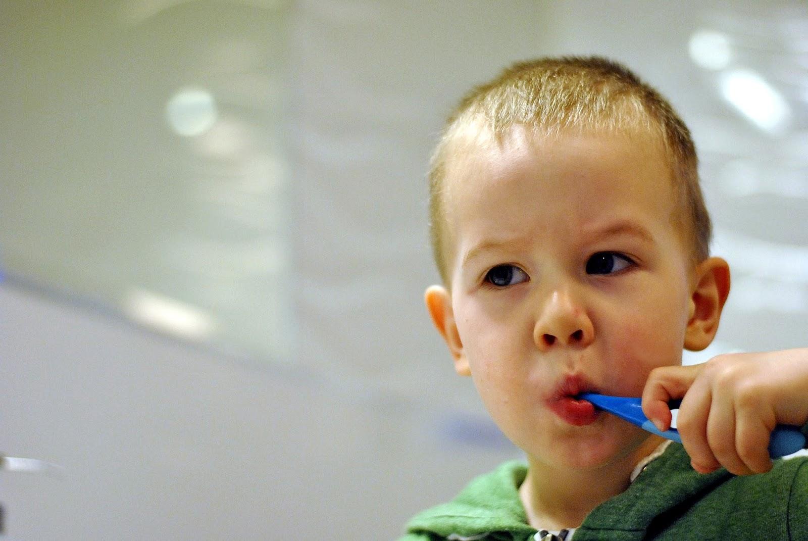 mycie zębów dwulatka