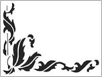 Leafy Corner Stencil