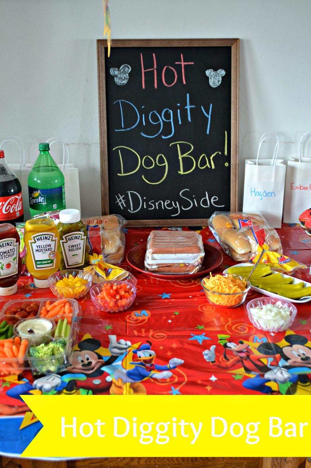 Hot Diggity Dog Bar.  Hot Dog Bar