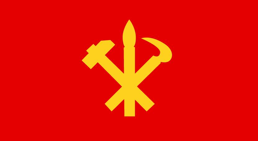 Bandeira do Partido do Trabalho da Coreia