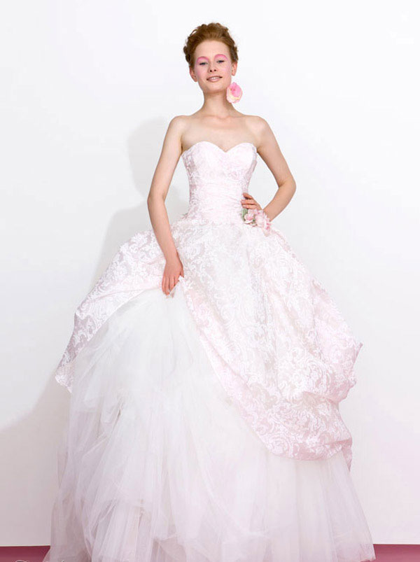 white pink Wedding Dresses 2013 From Atelier Aimée