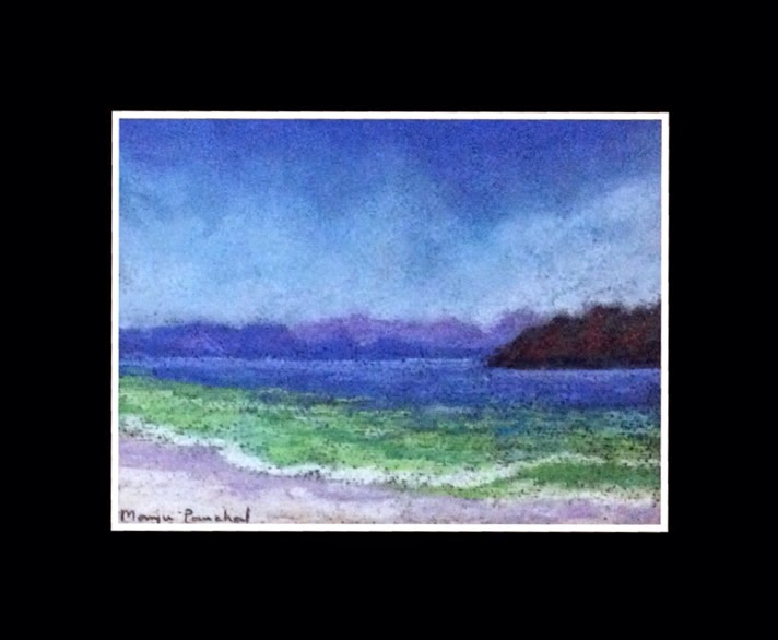 seascape in soft pastels by Manju Panchal
