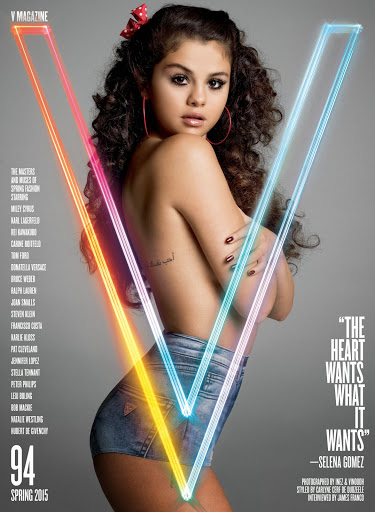 Selena Gomez topless V magazine photo gallery