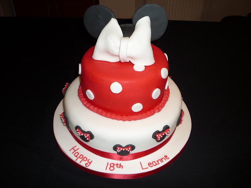 Elaine Allan Two Tier Mini Mouse 18th Birthday Cake
