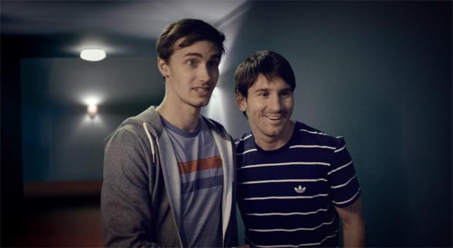 Leo Messi & friend