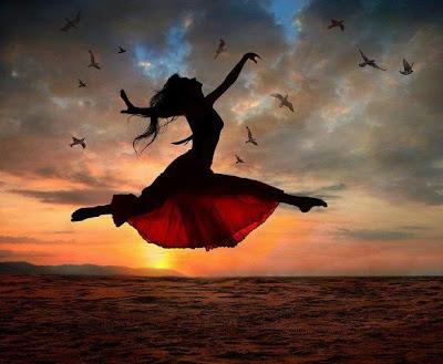 Woman Flying in the Sky, Anita Bacha Website, as seen on linenandlavender.net - http://www.linenandlavender.net/2013/05/magic-and-merlin-archetype.html