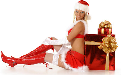 Santa Girl Wish Merry Christmas