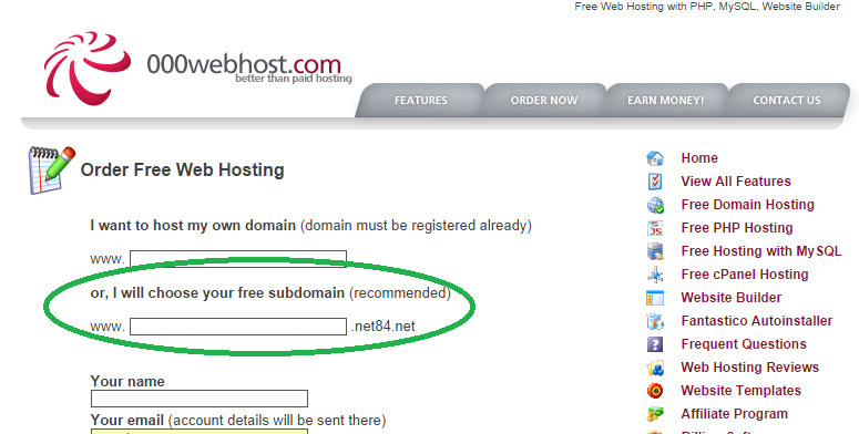 deploy your application on a free web host with 000webhost
