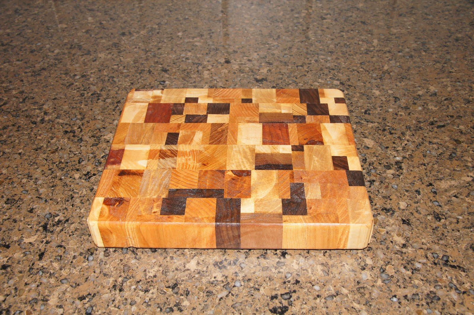 diy woodworker scrap wood, hardwood, end grain cutting board, Kitchen design