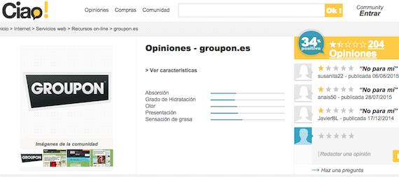 Groupon: Quejas y reclamaciones de clientes y afectados que sienten que Groupon les estafa.