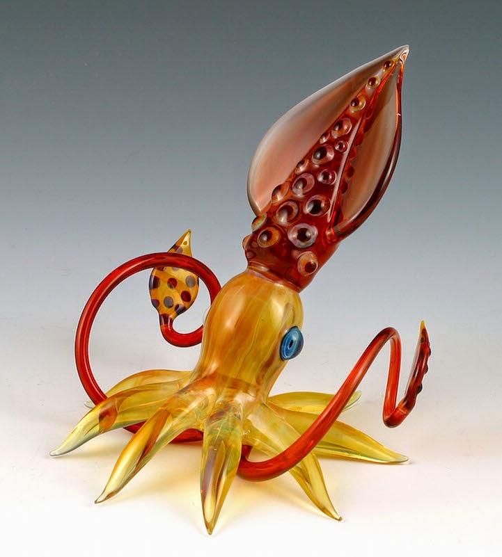hand blown glass creatures sculptures scott bisson-1