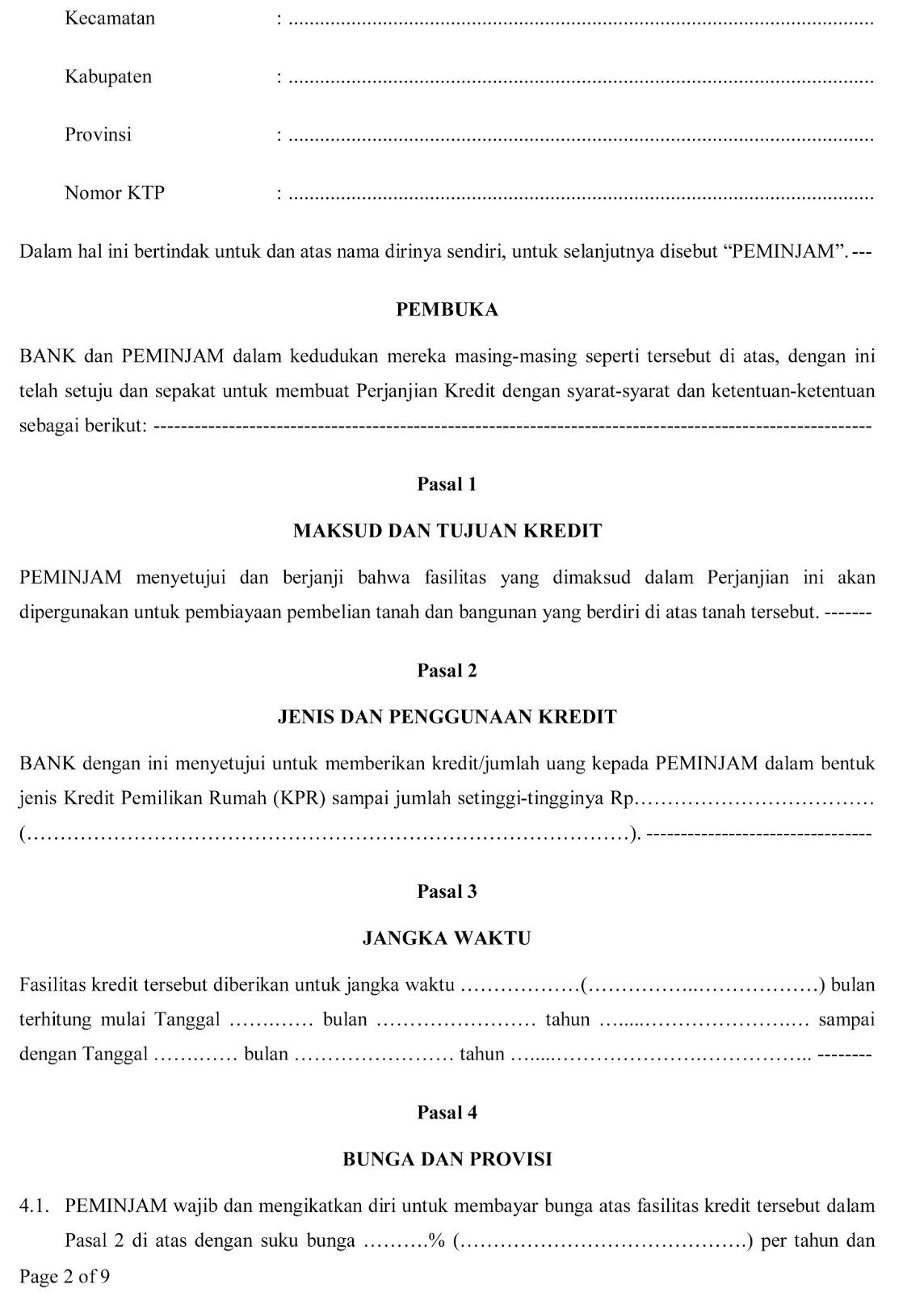 Perumahan MELAYU INDAH PERMAI Residence: SURAT PERJANJIAN