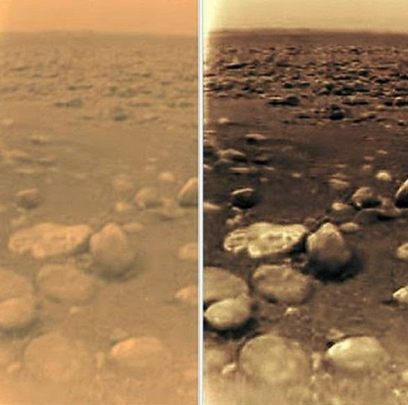 Photos Of Two ET Bases On Titan, Where Huygens Landed