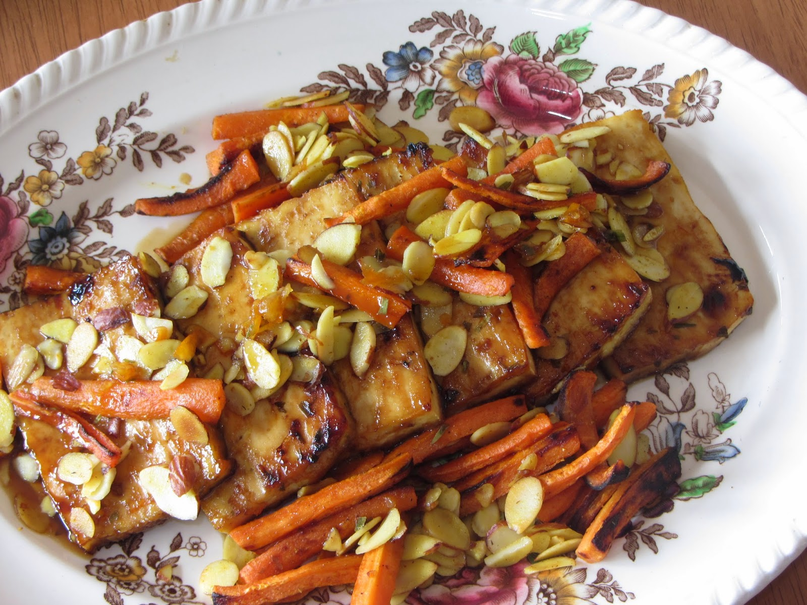 Tracy's Living Cookbook: Citrus Roasted Tofu