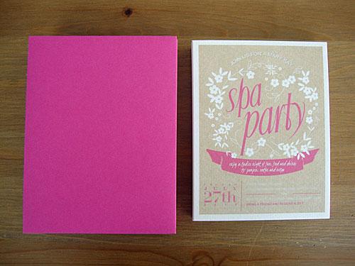 spa party invitations free