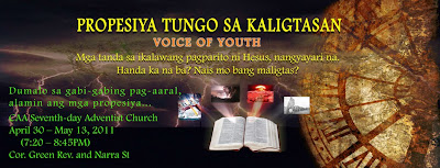 voice of youth crusade Philippines Prophecy towards salvation