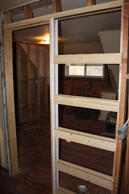 This old church house for Master bathroom pocket door