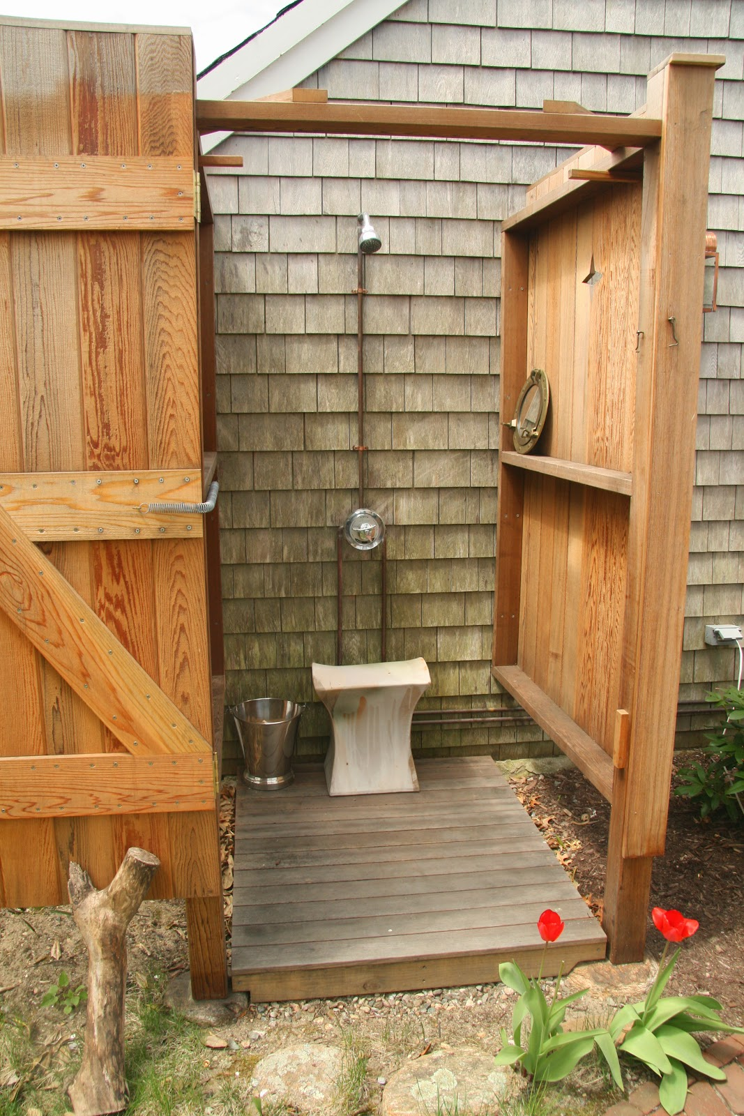 An Old Farm: Outdoor Shower Seat