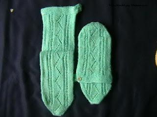 kışlık örgü çorap modeli